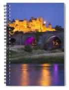 Twilight Over Carcassonne Spiral Notebook