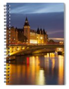 Twilight Over River Seine And Conciergerie Spiral Notebook