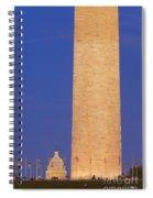 Twilight Over Washington Dc Spiral Notebook