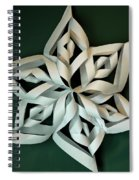 Twisted Paper Christmas Star Spiral Notebook