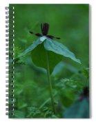 Twisted Trillium Spiral Notebook