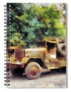 Two Army Trucks Spiral Notebook