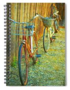 Two Bicyles Spiral Notebook