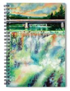 Two Bridges And A Falls 2          Spiral Notebook