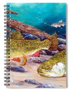 Two Brook Trout Spiral Notebook