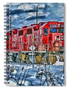 Two Cp Rail Engines Hdr Spiral Notebook