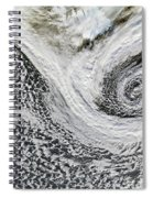Two Cyclones Forming Spiral Notebook