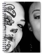 Two Faces In Black And White Spiral Notebook