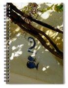 Two Fish Over Door Spiral Notebook