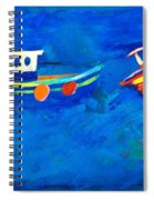 Two Fishing Boats At Sea Spiral Notebook