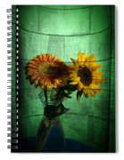 Two Flowers On Texture Spiral Notebook