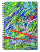 Two Flying Surfers Two K O Nine Spiral Notebook