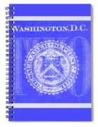 Two In Negative Blue Spiral Notebook