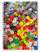 Two Jars Dice And Buttons Spiral Notebook