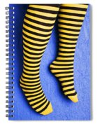 Two Legs Against Blue Wall Spiral Notebook
