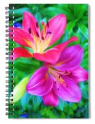Two Lily Flowers Spiral Notebook