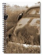 Two Old Rear Ends-sepia Spiral Notebook