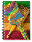 Two Paintbrushes On Paint Rollers Spiral Notebook
