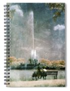 Two People By Buckingham Fountain Spiral Notebook
