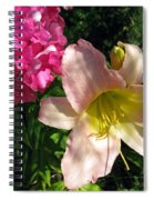 Two Pink Neighbors- Lily And Phlox Spiral Notebook