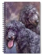 Two Poodles Spiral Notebook