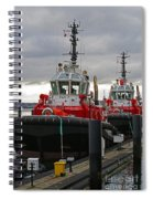 Two Red Tugs Spiral Notebook