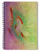 Two Tone Frac Abstract Spiral Notebook
