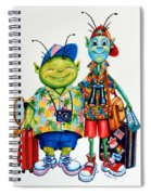 Two Tourists True Spiral Notebook