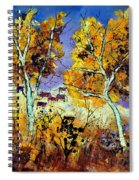 Two Trees In Fall Spiral Notebook