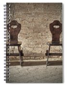Two Wooden Chairs Spiral Notebook