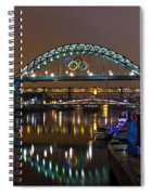Tyne Bridge At Night Spiral Notebook