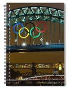 Tyne Bridge At Night II Spiral Notebook