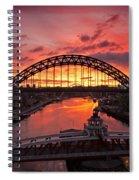 Tyne Bridges At Sunrise IIi Spiral Notebook