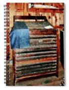 Type Case With Denim Apron Spiral Notebook