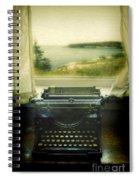 Typewriter By Window Spiral Notebook