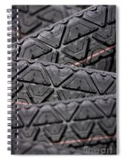 Tyres Stacked With Focus Depth Spiral Notebook