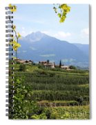 Tyrolean Alps And Vineyard Spiral Notebook