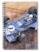 Tyrrell Ford 007 Jody Scheckter 1974 Swedish Gp Spiral Notebook