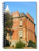 Uc Berkeley . South Hall . Oldest Building At Uc Berkeley . Built 1873 . The Campanile In The Back Spiral Notebook
