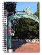 Uc Berkeley . Sproul Plaza . Sather Gate . 7d10039 Spiral Notebook