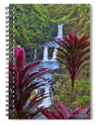 Umauma Falls Big Island Hawaii Spiral Notebook