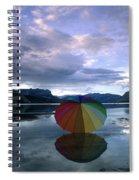 Umbrella Beach Spiral Notebook