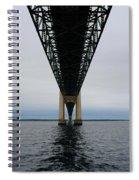 Under The Mackinac Bridge Spiral Notebook
