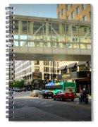 Under The Skywalk - Street Lamp Spiral Notebook