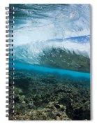 Underwater Wave Spiral Notebook