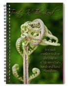 Unfurling Faith Spiral Notebook