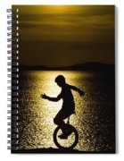 Unicycling Silhouette Spiral Notebook