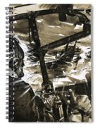 Unidentified Aircraft Diving To Attack A Ship  Spiral Notebook