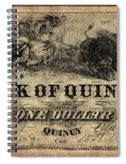 Union Banknote, 1861 Spiral Notebook