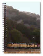 Union Pacific Locomotive Trains . 7d10553 Spiral Notebook